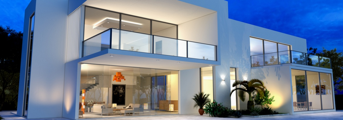 iluminação externa residencial
