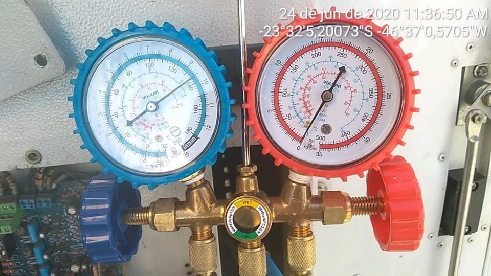 pressão oscila no manifold